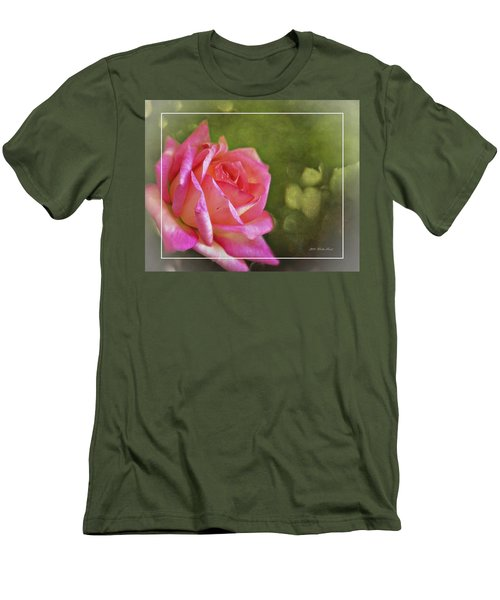 Pink Rose Dream Digital Art 3 Men's T-Shirt (Slim Fit) by Walter Herrit