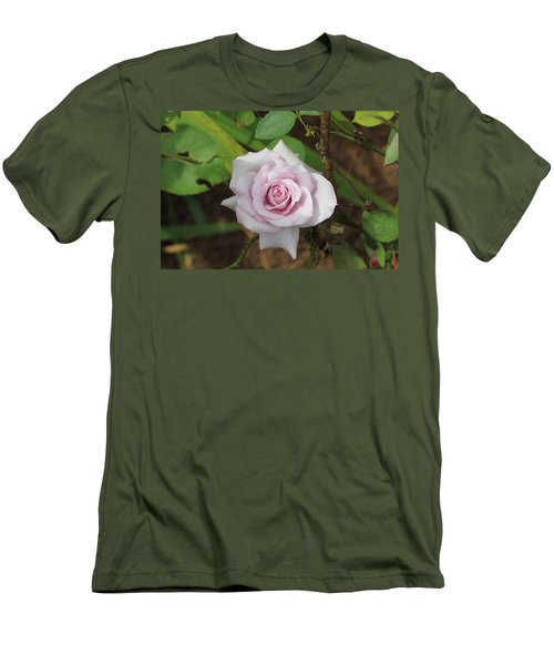 Men's T-Shirt (Slim Fit) featuring the photograph Pink Rose by Jerry Battle