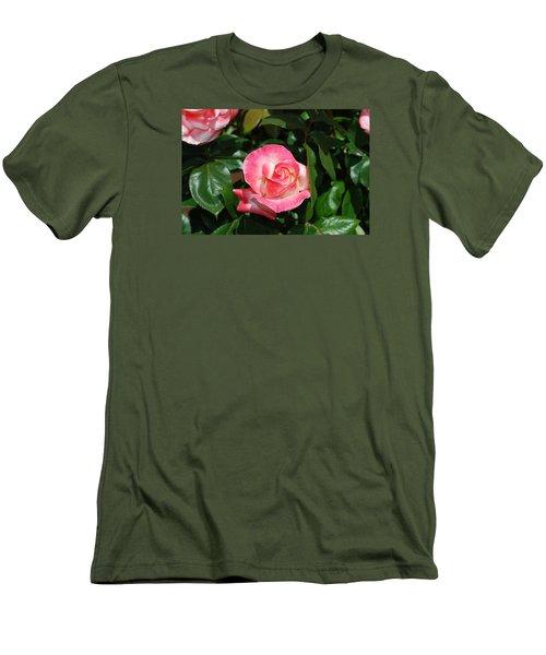 Pink Rose Men's T-Shirt (Slim Fit)