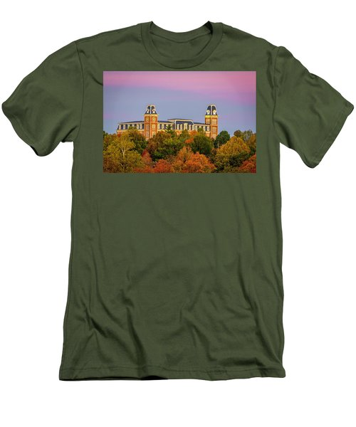 Pink Sky Over Old Main  Men's T-Shirt (Athletic Fit)