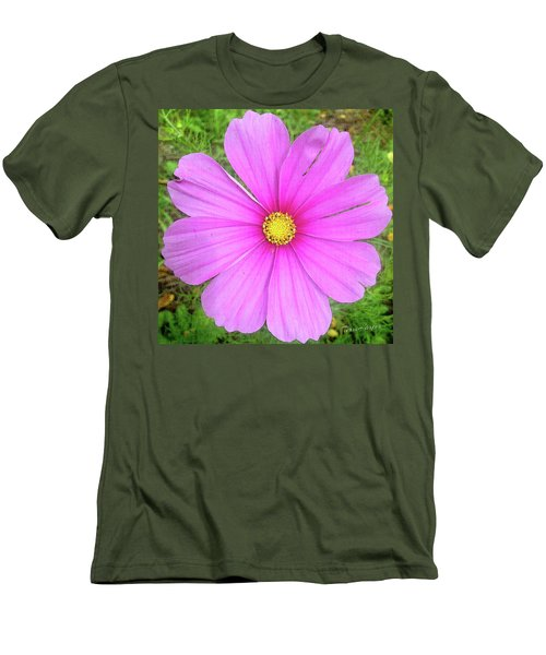 Men's T-Shirt (Slim Fit) featuring the photograph Pink by Terri Harper