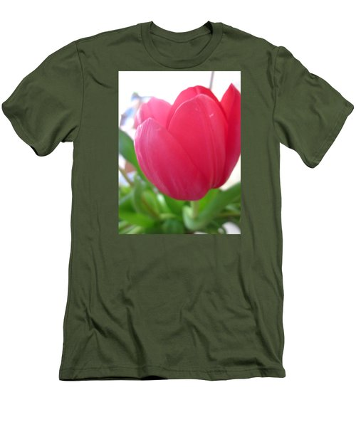 Pink Tulip Men's T-Shirt (Athletic Fit)