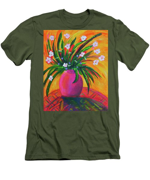 Pink Vase In Warm Afternoon Men's T-Shirt (Athletic Fit)