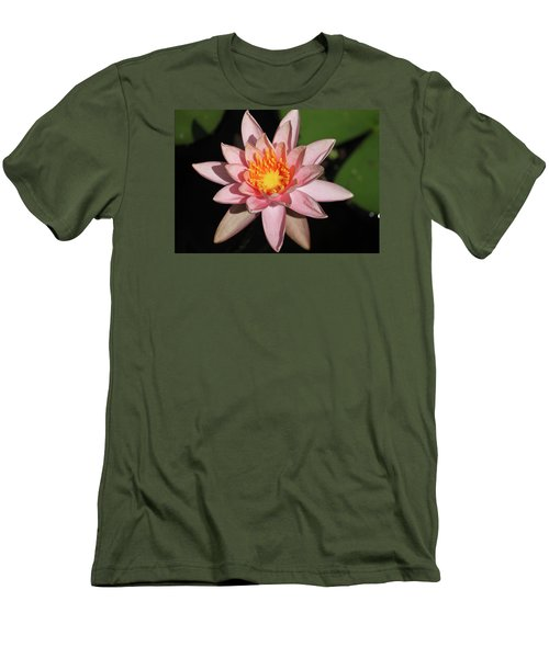 Pink Water Lily 2016 Men's T-Shirt (Slim Fit) by Suzanne Gaff