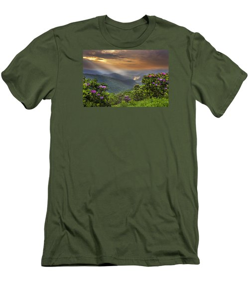 Pinnacle Sunset  Men's T-Shirt (Athletic Fit)