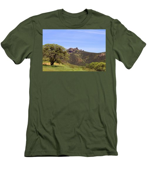 Men's T-Shirt (Slim Fit) featuring the photograph Pinnacles Vista by Art Block Collections