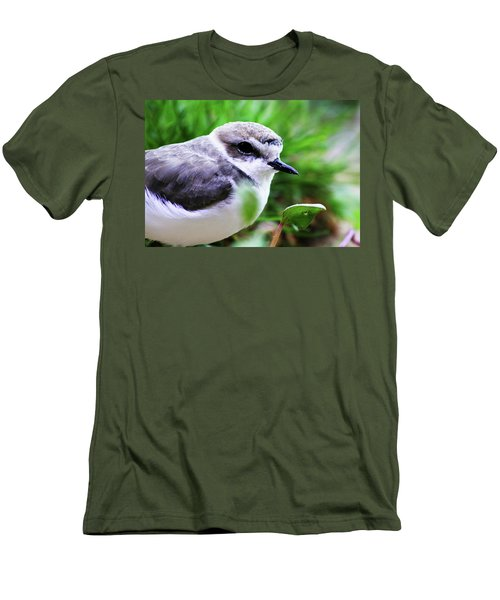Men's T-Shirt (Slim Fit) featuring the photograph Piping Plover by Anthony Jones