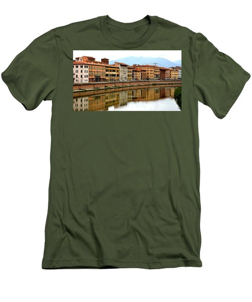 Pisa Reflections Men's T-Shirt (Athletic Fit)