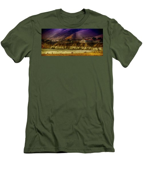 Men's T-Shirt (Slim Fit) featuring the photograph Pismo Beach Cove by Joseph Hollingsworth