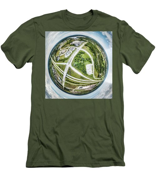 Men's T-Shirt (Athletic Fit) featuring the photograph Planet Mukwonago by Randy Scherkenbach