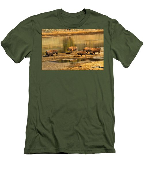 Men's T-Shirt (Slim Fit) featuring the photograph Planning To Cross by Adam Jewell