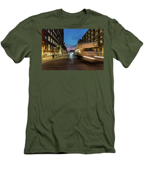 Men's T-Shirt (Athletic Fit) featuring the photograph Playing In Traffic by Randy Scherkenbach