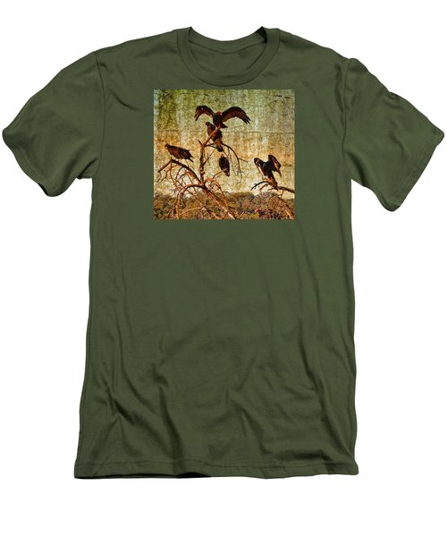 Men's T-Shirt (Slim Fit) featuring the photograph Pleasanton Vultures by Steve Siri