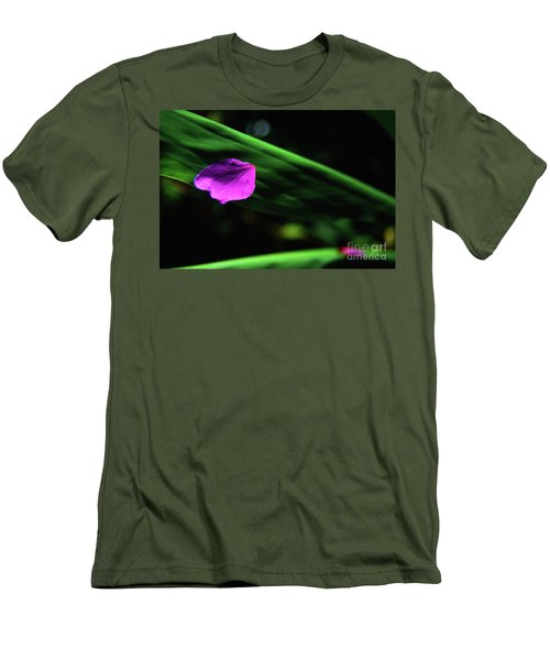 Plumeria Flower Petal On Plumeria Leaf- Kauai- Hawaii Men's T-Shirt (Athletic Fit)