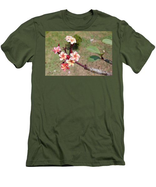 Men's T-Shirt (Athletic Fit) featuring the photograph Plumeria Flowers by Jingjits Photography