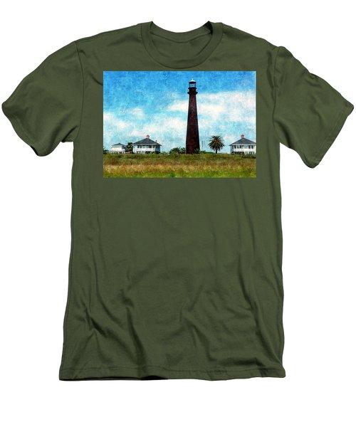 Point Bolivar Lighthouse 1872 Men's T-Shirt (Slim Fit) by Karl Reid