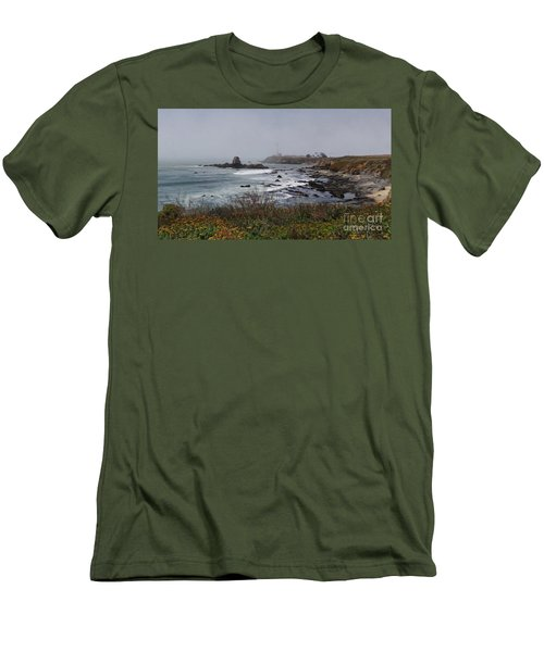 Men's T-Shirt (Slim Fit) featuring the photograph Point Montara Lighthouse by David Bearden