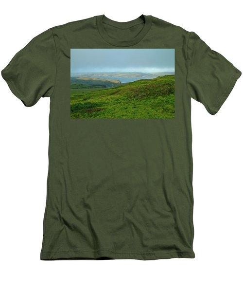 Point Reyes Overlooking Tomales Bay Men's T-Shirt (Athletic Fit)