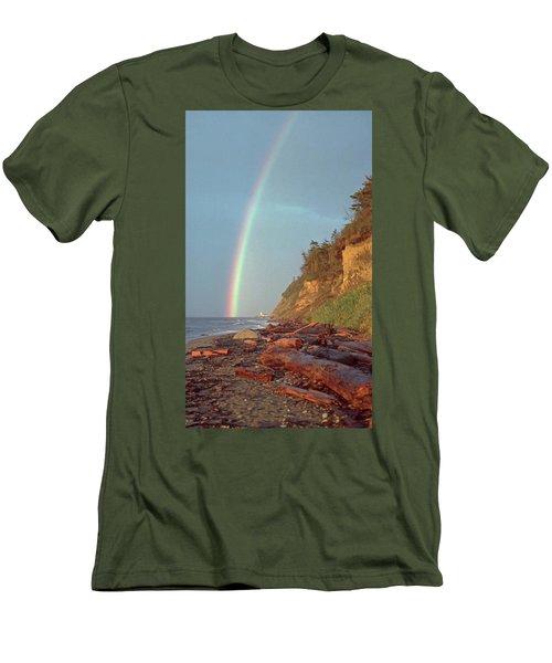 Point Wilson Men's T-Shirt (Slim Fit) by Laurie Stewart