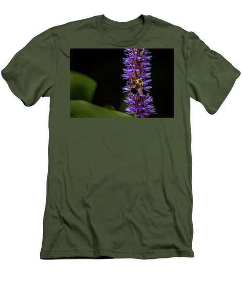 Men's T-Shirt (Slim Fit) featuring the photograph Pollen Collector 3 by Jay Stockhaus