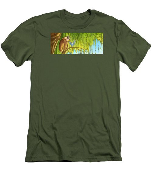 Polly And Her Friend, Elfie Men's T-Shirt (Slim Fit) by Reynold Jay
