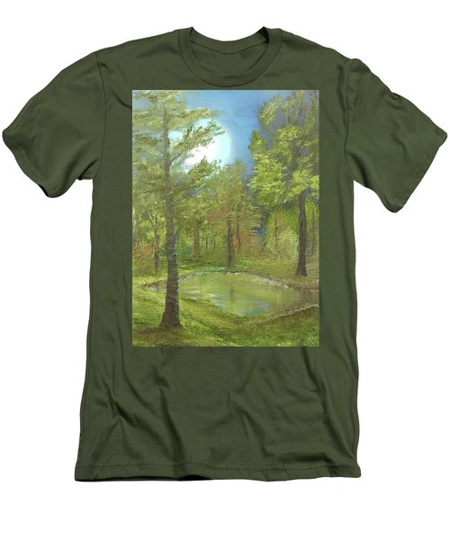 Pond Men's T-Shirt (Slim Fit) by Angela Stout