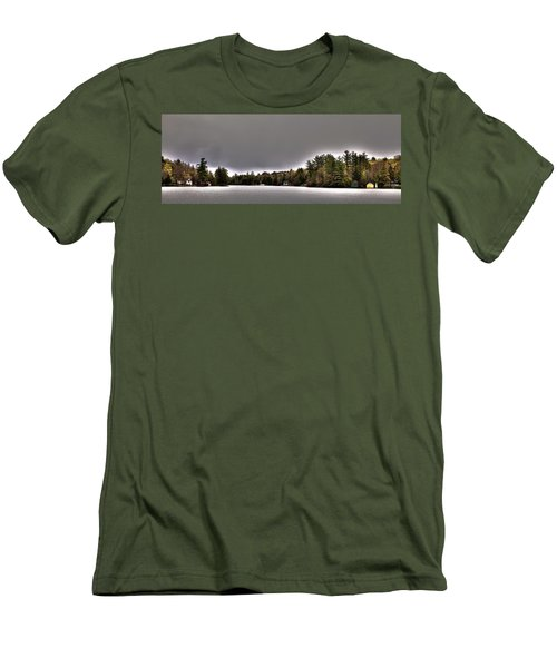Pond Panorama Men's T-Shirt (Slim Fit) by David Patterson