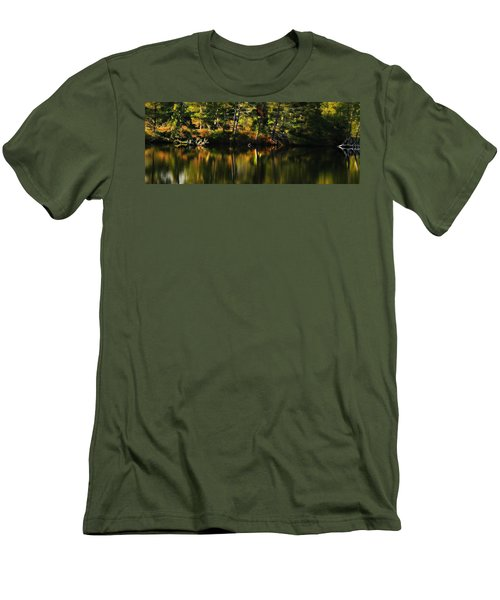 Men's T-Shirt (Slim Fit) featuring the photograph Pond Reflections by Katie Wing Vigil