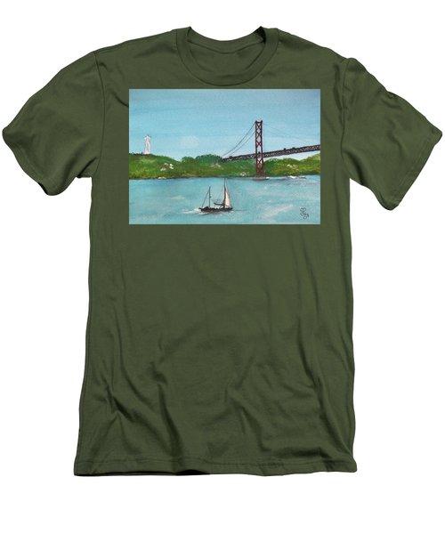 Ponte Vinte E Cinco De Abril Men's T-Shirt (Athletic Fit)