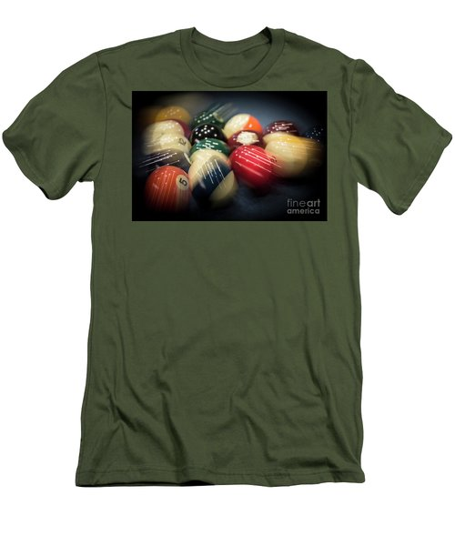 Pool Break Motion - Lower Angle Men's T-Shirt (Athletic Fit)