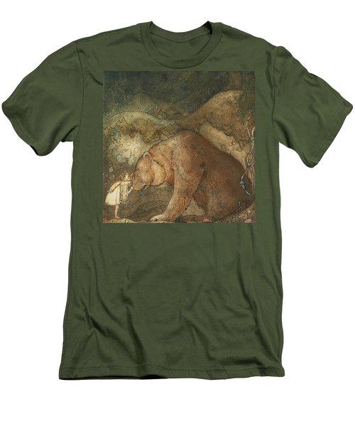 Poor Little Basse Men's T-Shirt (Athletic Fit)