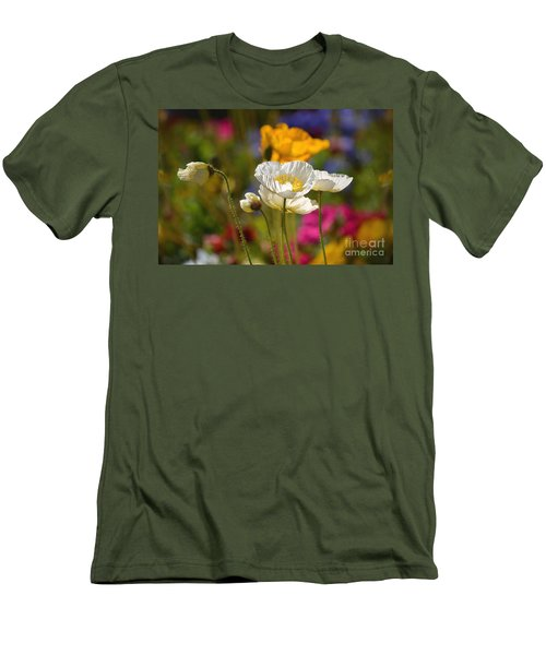 Poppies In The Spring Men's T-Shirt (Slim Fit) by Deb Halloran