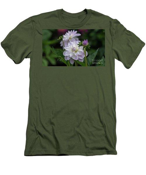 Porcelain Dahlias Men's T-Shirt (Athletic Fit)