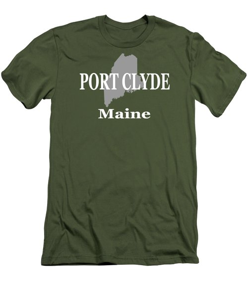 Men's T-Shirt (Slim Fit) featuring the photograph Port Clyde Maine State City And Town Pride  by Keith Webber Jr