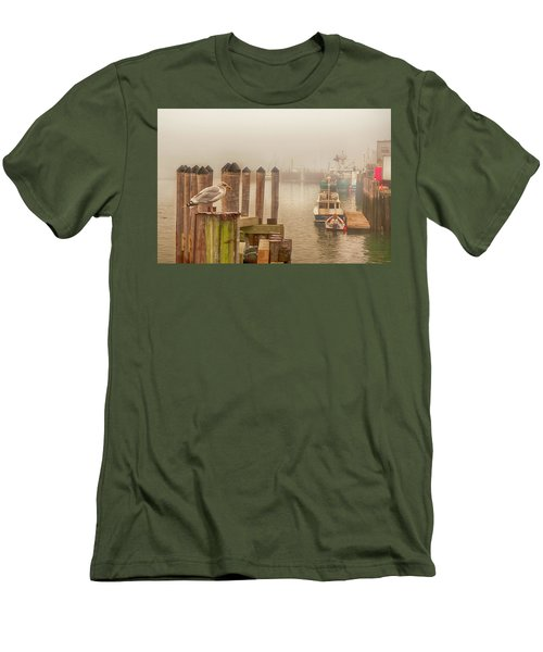 Portland Harbor Morning Men's T-Shirt (Athletic Fit)