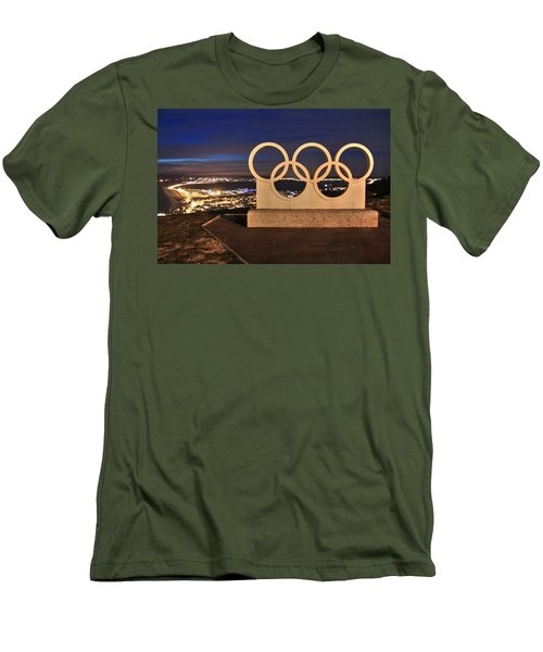 Portland Olympic Rings Men's T-Shirt (Athletic Fit)