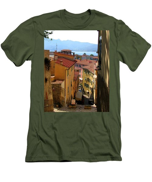 Portoferraio Elba Men's T-Shirt (Slim Fit) by Carla Parris