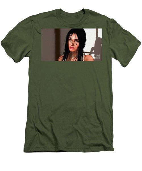Portrait Female 1 Men's T-Shirt (Athletic Fit)