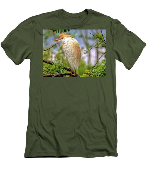Portrait Of A Cattle Egret Men's T-Shirt (Athletic Fit)