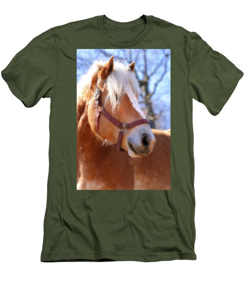 Portrait Of A Haflinger - Niko Men's T-Shirt (Slim Fit) by Angela Rath