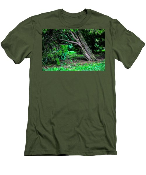 Men's T-Shirt (Slim Fit) featuring the photograph Portrait Of A Tree by Madeline Ellis