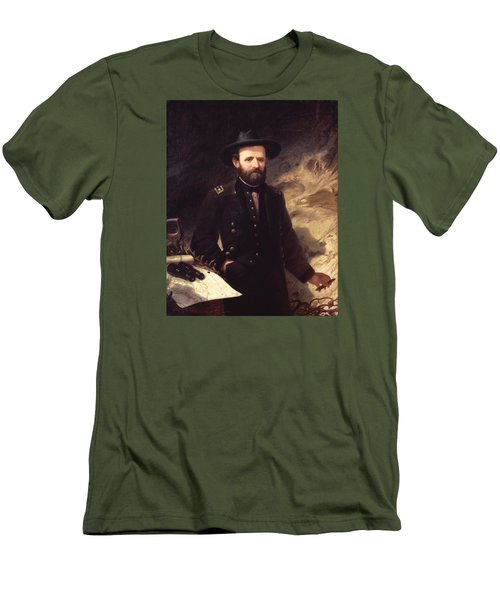 Portrait Of Ulysses S. Grant Men's T-Shirt (Slim Fit) by Ole Peter Hansen Balling