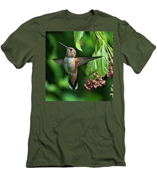 Posing Men's T-Shirt (Slim Fit) by Sheldon Bilsker