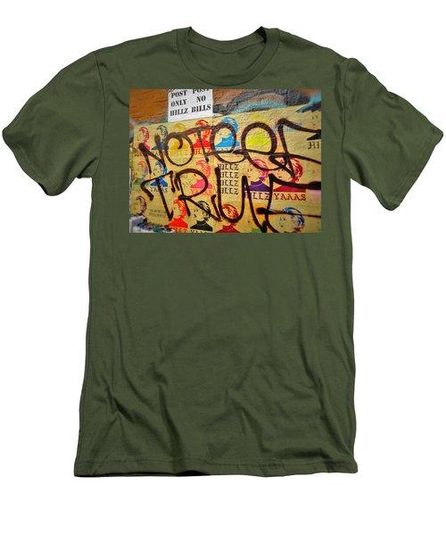 Post No Bills Hillary Clinton  Men's T-Shirt (Slim Fit) by Funkpix Photo Hunter