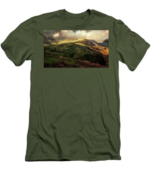 Postcard From Scotland Men's T-Shirt (Slim Fit) by Jaroslaw Blaminsky