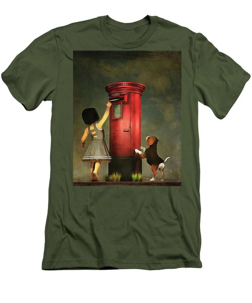 Posting A Letter Together Men's T-Shirt (Athletic Fit)