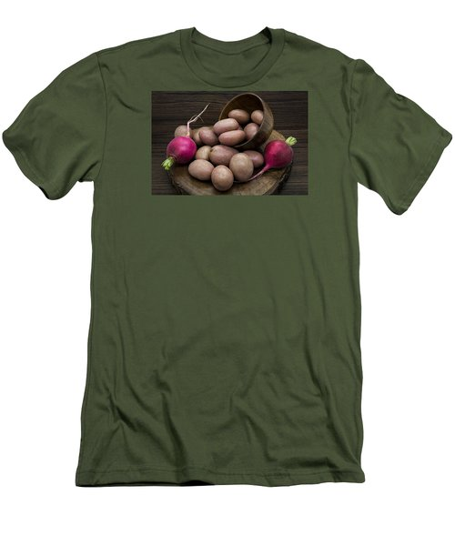 Potatoes And Radishes Men's T-Shirt (Athletic Fit)