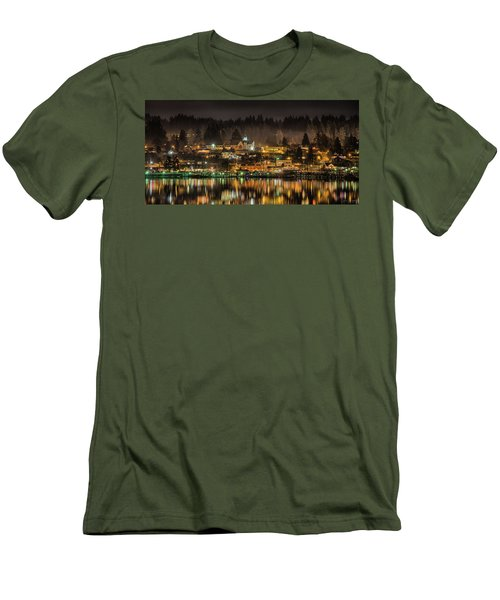 Poulsbo Waterfront 5 Men's T-Shirt (Slim Fit) by Wally Hampton