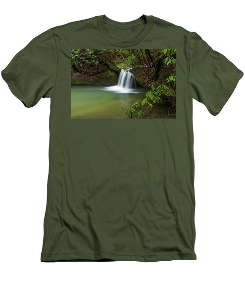 Pounder Branch Falls # 2 Men's T-Shirt (Athletic Fit)
