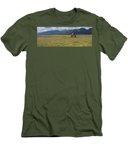 Men's T-Shirt (Athletic Fit) featuring the photograph Prairie Barn by Fran Riley